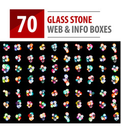 mega collection of glass stones vector image vector image