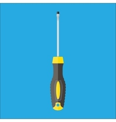 Modern screwdriver with plastic handle vector