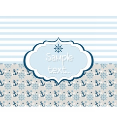 Nautical or marine themed card vector image