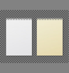 realistic notebook design diary blank office vector image