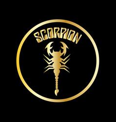 scorpion logo vector image