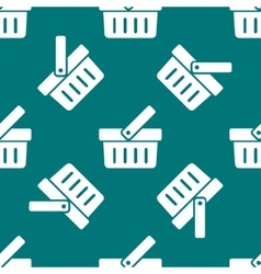 Shopping basket web icon flat design Seamless vector