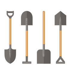Shovel set on white background vector
