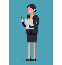Smiling Businesswoman vector image