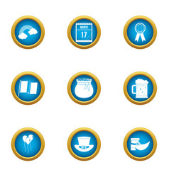 Speculate money icons set flat style vector