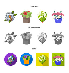 Spring and wreath logo vector