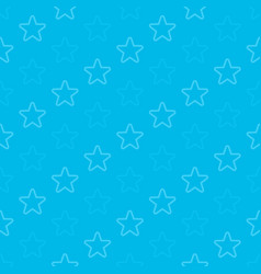 stars seamless background blue vector image