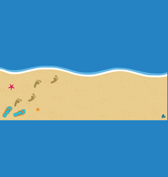 Summer poster with copy space flip flops and foot vector
