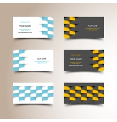 Taxi business card set vector