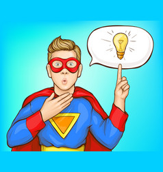 Teenager coming with super idea cartoon vector