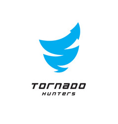 tornado hunters logo nature science research web vector image