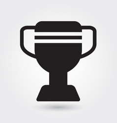 trophy icon sports champion icon sports winner vector image
