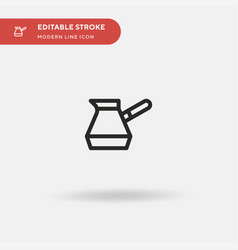 turkish coffee simple icon vector image