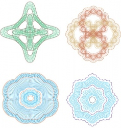 vector set of guilloche rosette vector image