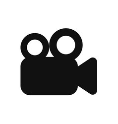 video camera icon in modern design style for web vector image