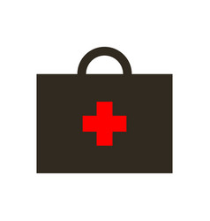 virus first aid help kit box icon vector image