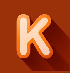 Volume icons alphabet k vector