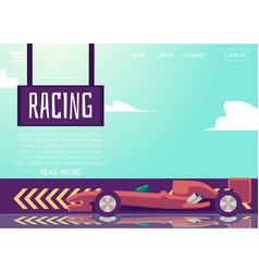 Website page banner template for car speed racing vector