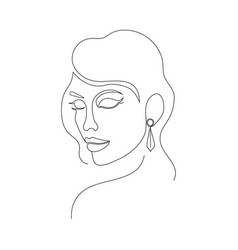 woman on white background vector image