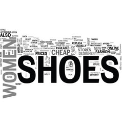 women s shoes text word cloud concept vector image