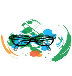 Abstract Eyeglasses vector image vector image