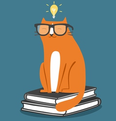 Cat in glasses vector image