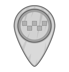 Geo taxi icon gray monochrome style vector