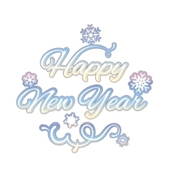 Happy new year isolated text vector image vector image