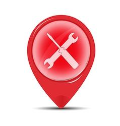 red Service symbol vector image