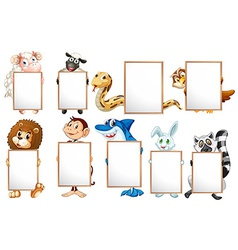 Animals and signs vector image vector image
