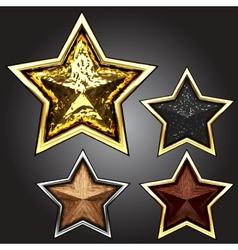 Award star set vector