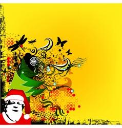 Christmas greeting card with Santa vector image vector image