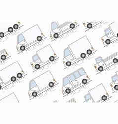 delivery van seamless pattern vector image vector image