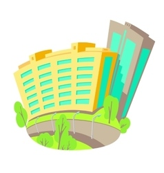 flat of buildings in the city vector image vector image