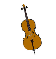 isolated cello vector image