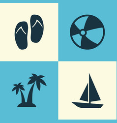 Sun icons set collection of ship bead forceps vector