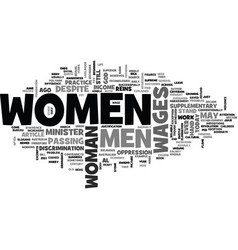 women s wages is it justified text word cloud vector image vector image