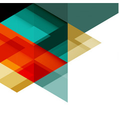 abstract colorful geometric template vector image vector image