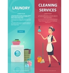 Housekeeping Vertical Banners vector image vector image