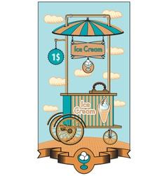 ice cream shop vector image