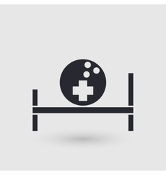 Icon bowling Medical room of bowling club vector image