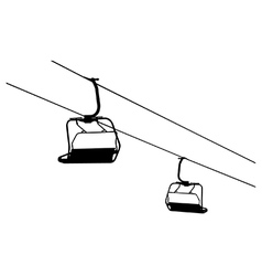 Chairlift vector image