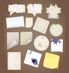 Collectionn of vintage paper sheets vector image vector image