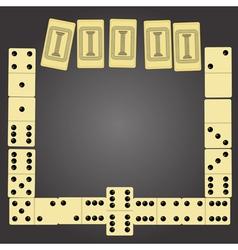 domino pieces vector image