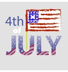 Independence day of usa american flag 4 july vector