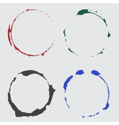ink cup spots in color vector image