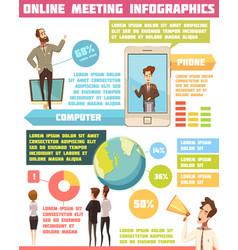 online meeting infographic set vector image