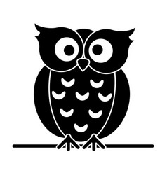 silhouette owl loving vector image