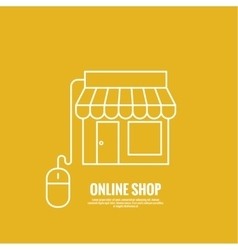 Storefront with cable and a computer mouse vector image