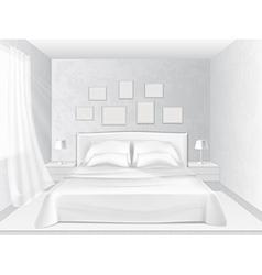 white bedroom vector image